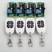 New AC 220V 10A 1CH RF Wireless Remote Control Switch System Teleswitch 4X Transmitter 4 X