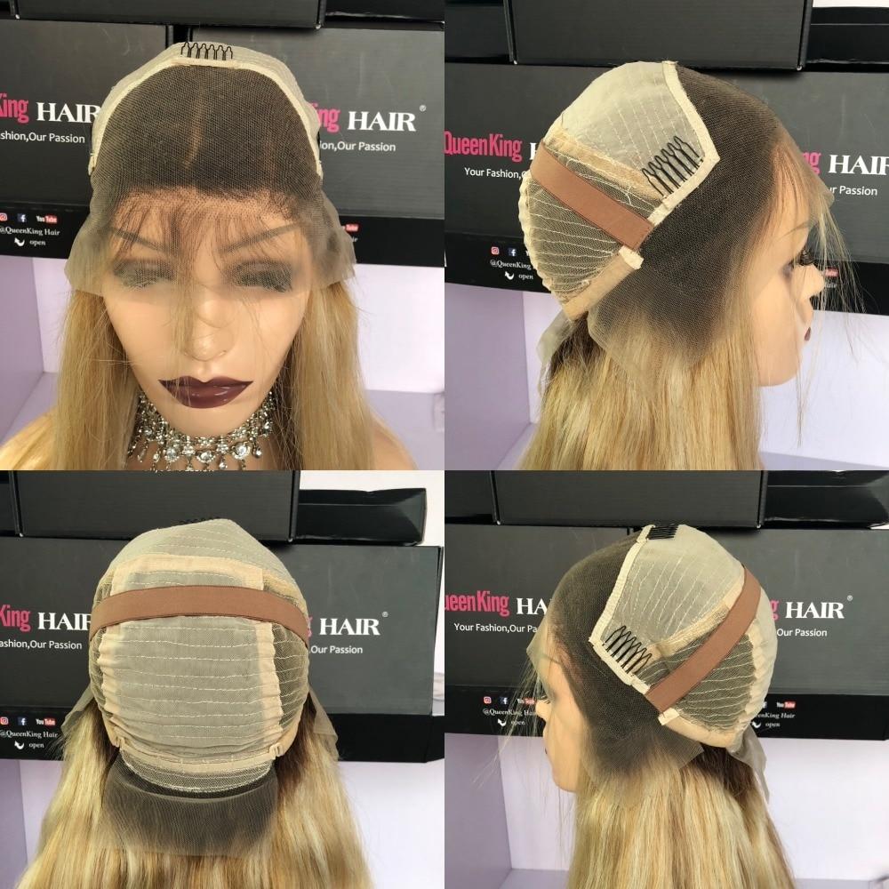Perruque de cheveux humains en dentelle 150% densité Couleur T4 / 27/613