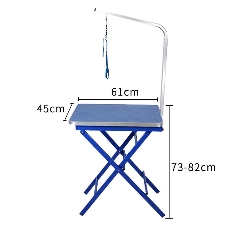 Дешевый складной стол для ухода за домашними животными из нержавеющей стали для маленьких питомцев, портативный Рабочий стол, резиновая поверхность, стол для ванной, голубой, розовый - 5