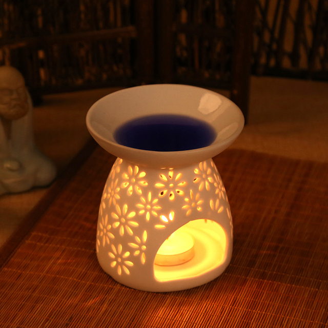 Good Europe Candle Holder Ceramic White Candlesticks Hollowed Designs Candle  Noble Caneca Home Decoration