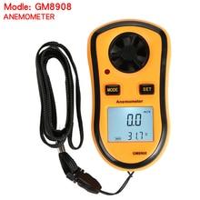 Real Digital Tachometer Handheld Air Wind Speed Scale Gauge Meter Digital Anemometer Thermometer GM8908 tenmars tm 401 handheld digital multifunctional anemometer air velocity meter