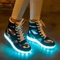 SYTAT СВЕТОДИОДНЫЕ обувь мужчин Повседневная Обувь для Взрослых LED Обувь Световой Квартиры Прогулки FlatsTrainers кроссовки Zapatillas Mujer