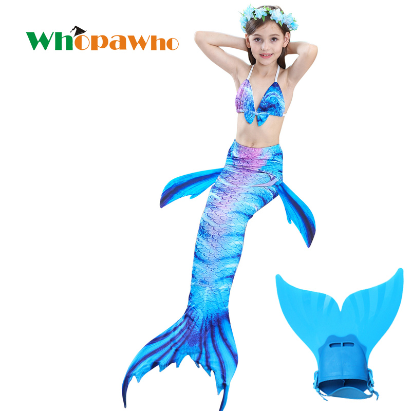 2018 Girls Bathing Suit Mermaid Tails Children Ariel  Mermaid Tail Costume Child Kids swimsuits Halloween Clothing