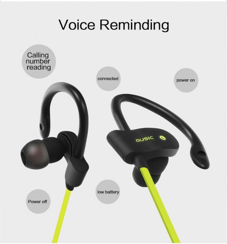 2016 hot Sport Bluetooth Headset Stereo Earplugs 4.1 Bluetooth Wireless Headset Headphone Ear-Hook Earphone with Microphone