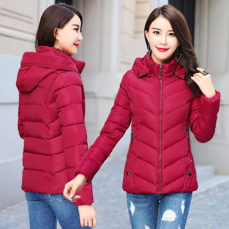 2019 New Warm Winter Women Detachable Cap Overcoat Jacket Female Thicken Hooded Loose Coats Ladies Down Cotton Parkas Mujer C79(China)