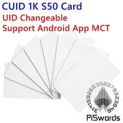 CUID UID modifiable nfc carte avec block0 modifiable inscriptible pour s50 13.56 Mhz nfc chinois magique carte Support Android App MCT