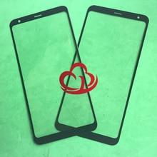 Lente exterior de cristal frontal de pantalla táctil LCD de repuesto de 10 piezas para LG Q Stylo 4 Q Note + Q710 Q710MS q710CS
