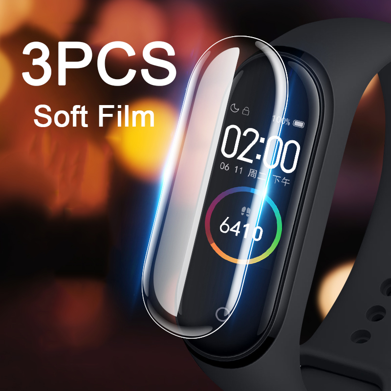 3pcs/lot Full  Screen Protector For Xiaomi Mi Band 4 Protective Film On Xiomi Band 3 2 Band2 Band3 Band4 Film Not Tempered Glass