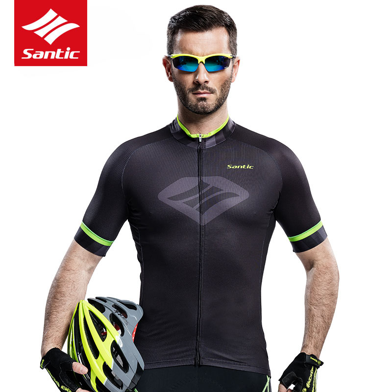 Santic Mens Cycling Jersey Summer Pro Team MTB Road Bike Jersey Short Sleeve Breathable Quick-dry Bicycle Jersey Ropa Ciclismo veobike winter thermal brand pro team cycling jersey set long sleeve bicycle bike cloth cycle pantalones ropa ciclismo invierno