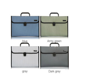 Image 5 - 델리 1 pcs a4 파일 폴더 문서 가방 확장 지갑 비즈니스 시리즈 폴더 가방 사무실 학교 용품 4 색