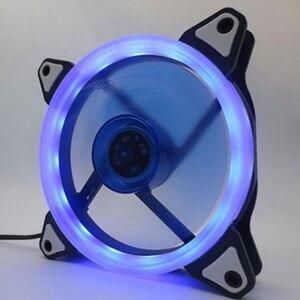 Image 3 - Colorful 120mm fan Computer LED Fan Water Cooler Cooler Fan Case Glare Red Blue Green White Cooler Fans Cooling RGB Case Fan CPU