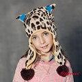 Kenmont Otoño Invierno Unisex Niños Niños Chico Chica Caliente de Punto Con Orejeras Beanie Hat Cap De Esquí de Dibujos Animados 4836