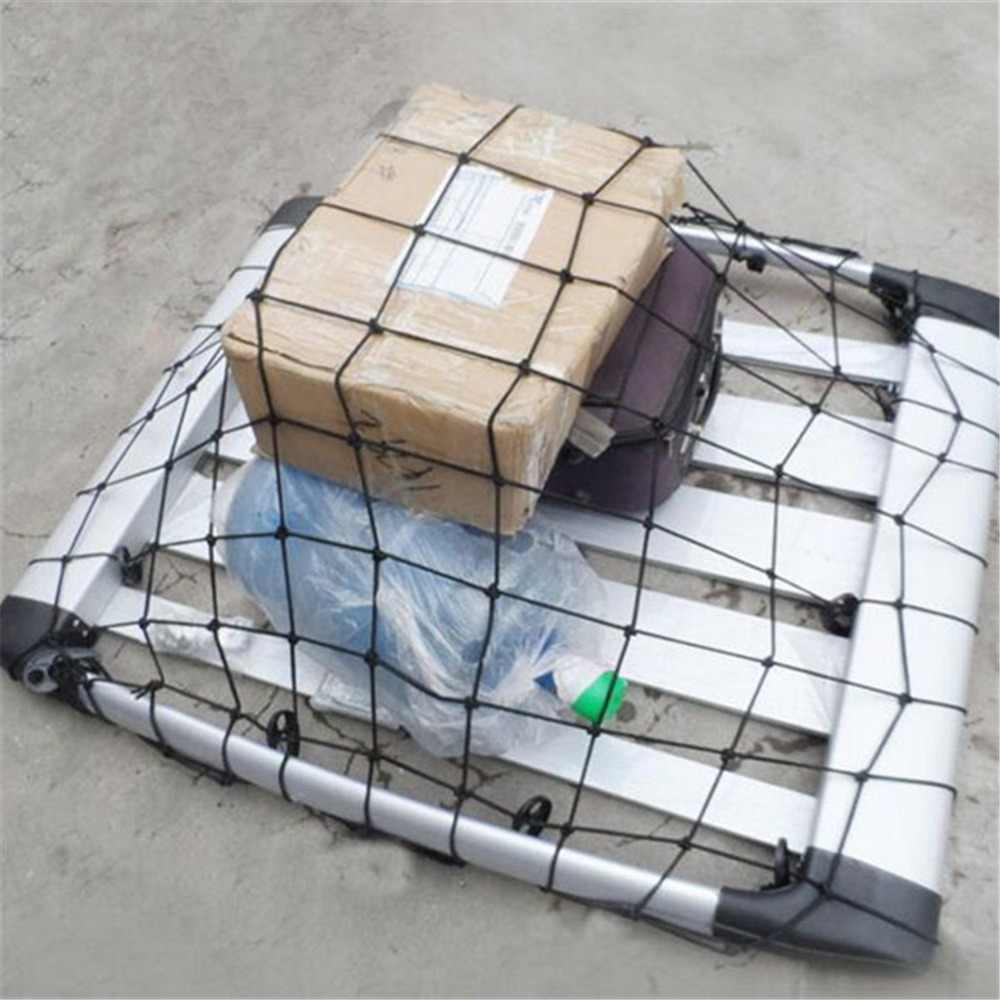 Carro de Carga Do Reboque Do Caminhão SUV Car Tejadilho Basket Organizador Saco Teto Do Carro Multiuso Malha Elástica Corda Bagagem Net Net cobrir