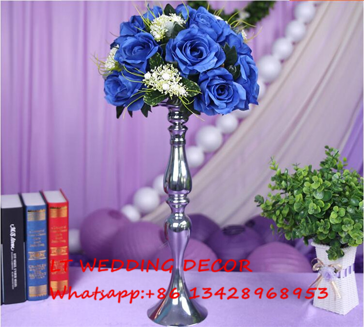Blue Wedding Table Centerpiece Flower Ball Wedding Table Decoration