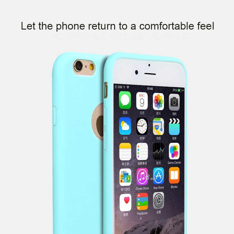 SIXEVE لينة سيليكون حالة ل فون X XR XS ماكس 10 8 7 6 5 s 6s زائد 6 زائد 6sPlus 7 زائد 8 زائد الهاتف الخليوي الغطاء الخلفي الوفير Etui
