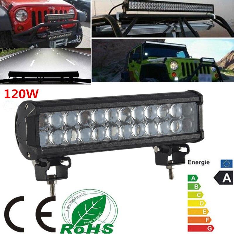 120W 12LED Light Bar Offroad 4D Led Work Light Bar Spot Beam Driving Lamp for 12v 24v Truck SUV ATV 4x4 fog light Free Shipping