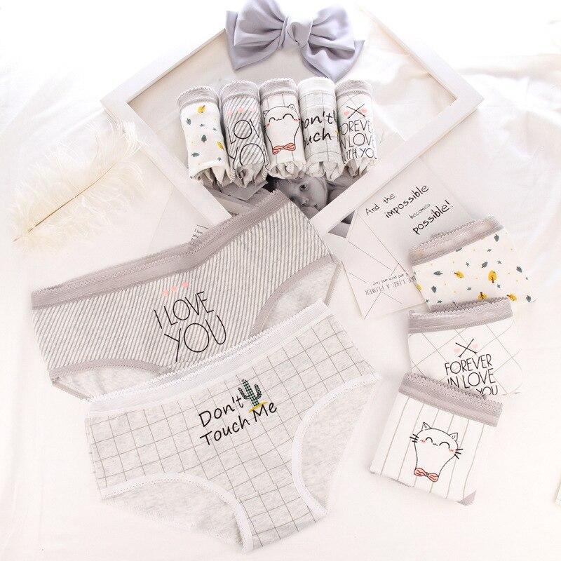 Panties for women cotton cactus letters print underwear ladies sexy lingerie girl briefs female underpants cartoon panty 2020