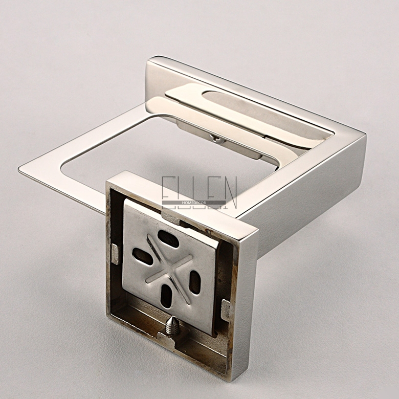 Aliexpress.com : Buy Free Shipping Wall Mounted Soap Dish Stainless Steel  Holder Square Glass Dish Soap Box Bathroom Accessories From Reliable Soap  Box ...