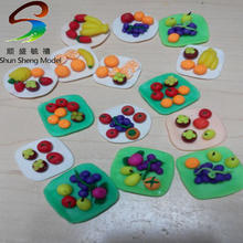 colorfull fruit tray scale fruit plate 1/25 miniature Fruit bowl ceramic compote model for ho scale train design layout