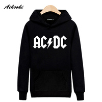 New Rock Music AD DC Hooded Sweatshirt Men Luxury Street Wear Skateboards Peculiar Creative Novelty Novelty