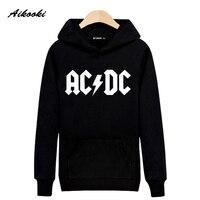 New Rock Music AD DC Hooded Sweatshirt Men Luxury Street Wear Skateboards Peculiar Creative Novelty Novelty