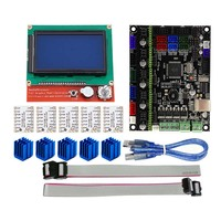 For MKS GEN L Compatible with 12864 LCD Display Support TMC2208 Motor Driver 3D Print Kits QJY99