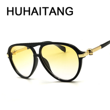 8e86df23c0 HUHAITANG luxury brand skull sunglasses women vintage men oval big sun  glasses for high quality designer