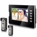 7 Inch  Color  LCD  Monitor Alloy Wired Intercom Video Door Phone 2V1 Monitor