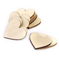 100 шт. 20 мм DIY сердце деревянные пластинки пустой сердце деревянные древесные срезы для поделки своими руками украшения