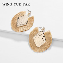 wing yuk tak Ethnic Boho Tassel Earrings for Women Gold Color Geometric Drop Earings Fashion Jewelry Factory Wholesale