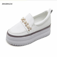 BBZAI shoes woman Pumps ladies shoes 4CM Wedges Gym shoes feminino Fashion Show Amazing shoes Spring/Autumn 35 39