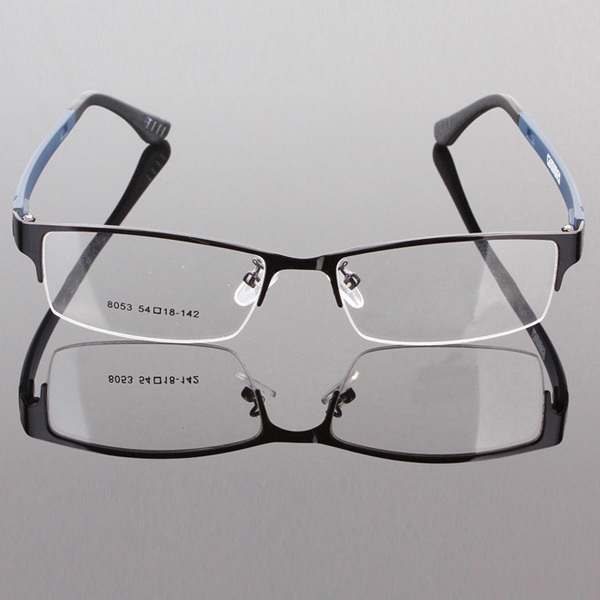 ca871a648b3 Durable Mens Eyewear Metal Frame Half Rim Designer Clear Lens Eye Glasses  Frame
