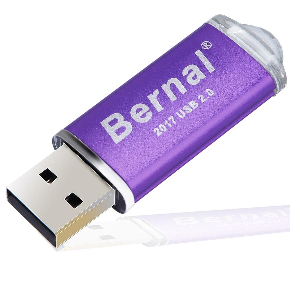 Bernal 64 gb de memória flash Drive Flash de 256 GB 128g Pen drive de Metal de Alta Velocidade USB 2.0 Flash Drive com Anel Chave Vara