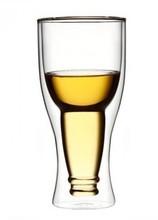 350cc odporny na wysoką temperaturę szklany kufel do piwa kreatywny szklanka z podwójną ścianką wygrać kubek duży kubek wody tanie tanio kurisuta Kufle piwa ROUND Ce ue Ekologiczne Szkło Irregular Coffee tea wine water milk