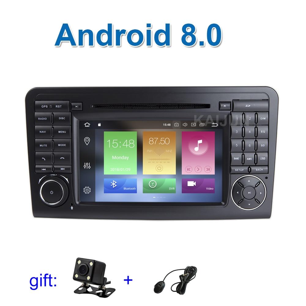 Android 8.0 Voiture DVD Stéréo Lecteur pour Mercedes/Benz GL ML CLASSE W164 ML350 ML500 X164 GL320 avec Wifi BT Radio GPS