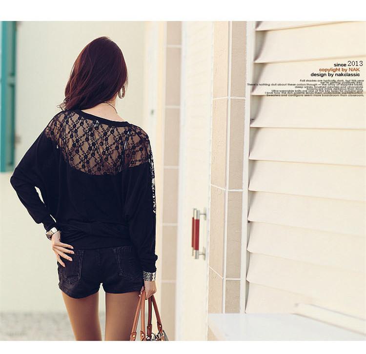 HTB1M4MlNXXXXXX4XXXXq6xXFXXX3 - Casual Lace Blouse Batwing Sleeve Shirt Women Cotton Clothing