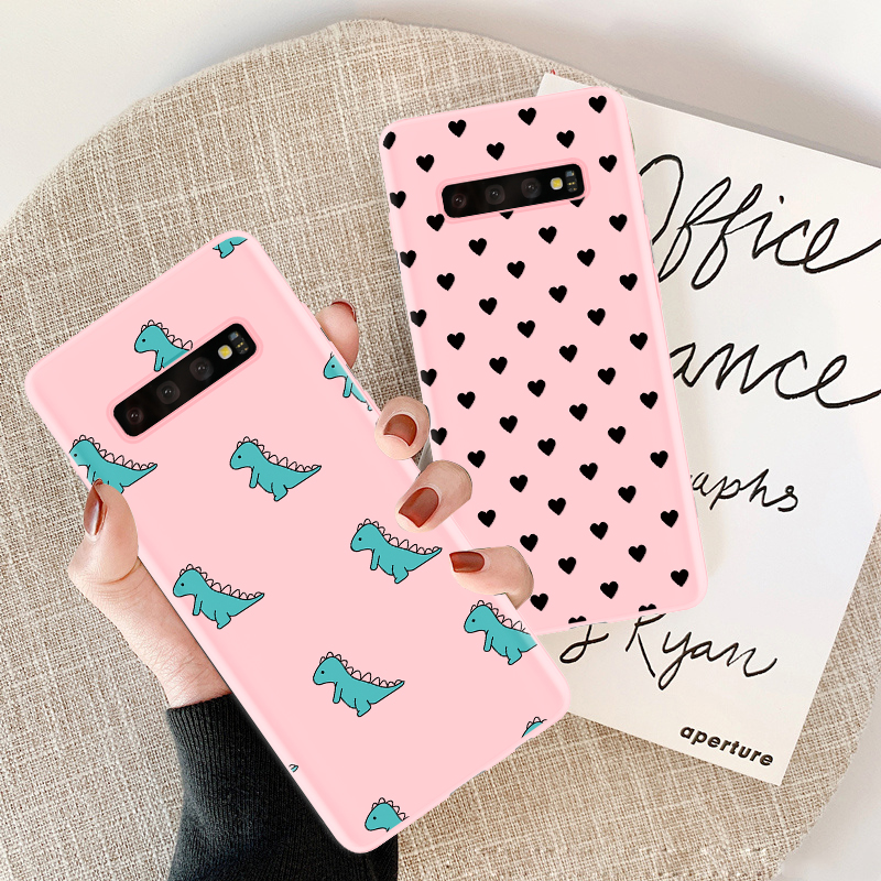 Candy Rosa Silikon TPU Coque Für <font><b>Samsung</b></font> A70 S10e Hinweis 5 8 9 A50 A40 A30 S6 <font><b>S7</b></font> Rand S8 s9 S10 A9S A9 Star Pro Plus 2018 Fall image