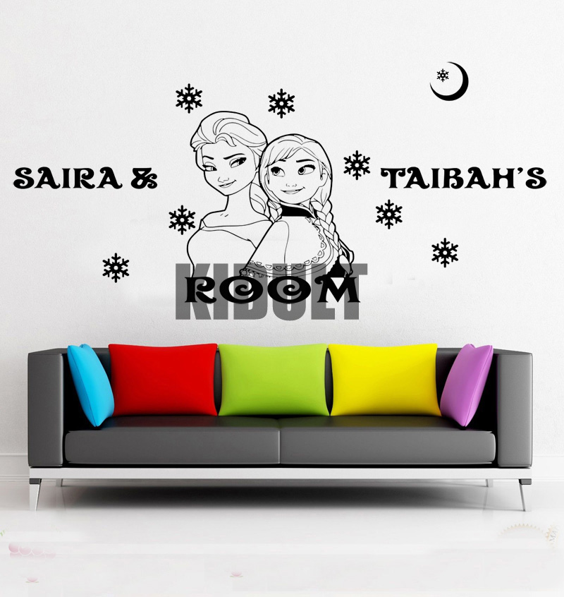 Frozen Wall Decals Animated Characters Frozen Plane Home Wall Stickers Wall  Stickers Living Room Bedroom Wall Painting In Wall Stickers From Home U0026  Garden ...