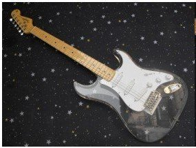 free shipping Stracaster Clear plexiglass Finish Electric Guitar