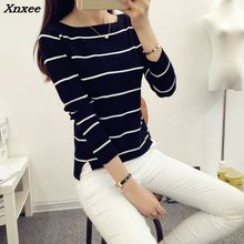 High Elastic Striped Jumper Women Clothes 2018 Autumn Winter Women Sweaters And Pullovers Female Tricot Pull Femme Winter Top high elastic striped jumper women clothes 2018 autumn winter women sweaters and pullovers female tricot pull femme winter top