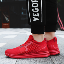 2018 New Breathable Air Mesh Men Running Shoes Jogging Gym Training Althetic Outdoor Sport Shoes Red Green Joomra Brand Sneakers
