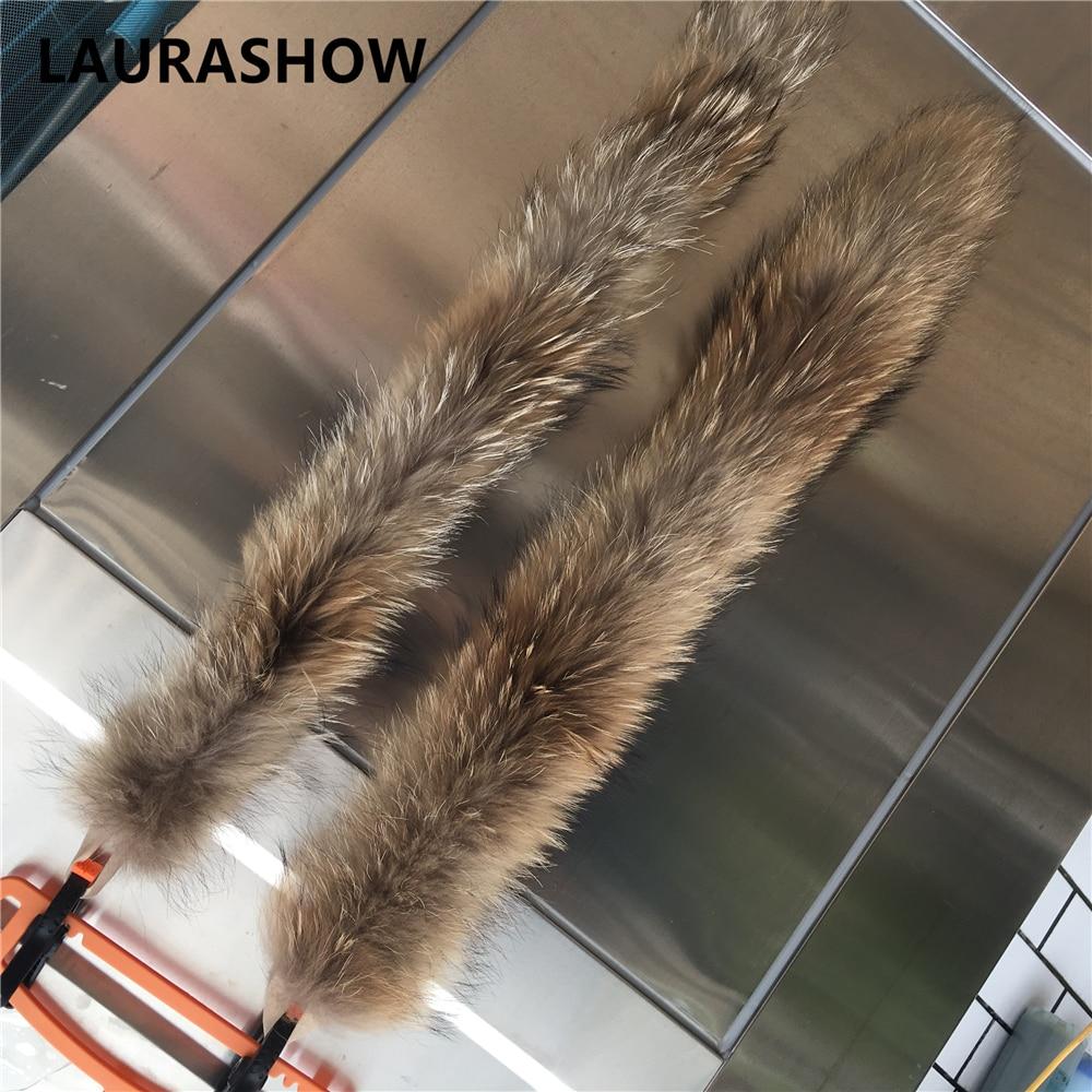 LAURASHOW 70cm jenots kažokādas dabiskas krāsas šalle sieviešu - Apģērba piederumi - Foto 6