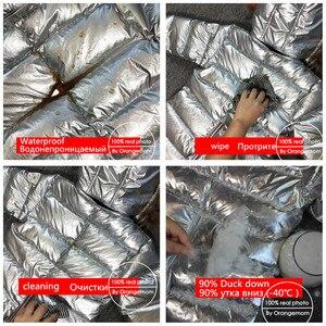 Image 5 - 803 חורף 30 תואר סרבל תינוק הסווטשרט טבע פרווה חליפת שלג סרבל ילדי אופנה בגדים חמים בני בנות למטה מעיל