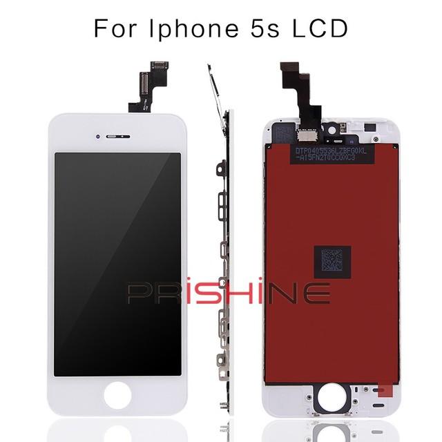 10 pçs/lote 100% sem dead pixel para iphone 5s display lcd & touch screen digitador assembléia substituição dhl frete grátis + ferramentas