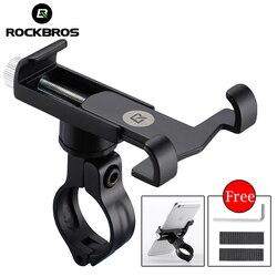 ROCKBROS Cycling Adjustable Universal Aluminum Bike Phone Mount Stand 3.5-6.2 inch Phone Bicycle Handlebar Mount Holder Bracket