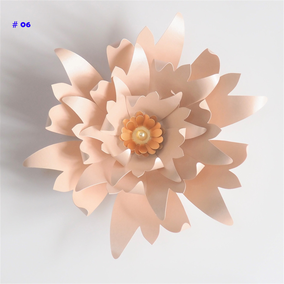20CM Thick Cardstock Rose DIY Paper Flowers For Wedding Event Backdrops Decorations Baby Nursery Wall Decor Video Tutorials in Artificial Dried Flowers from Home Garden
