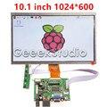 10.1 Дюймов 1024*600 ЖК-Экран TFT Монитор Дисплей с Платой Драйвера HDMI VGA 2AV для Raspberry Pi 3/2 Модель B/B +/+