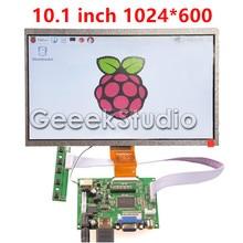 10.1 Inch 1024*600 LCD Screen TFT Monitor Display with Driver Board HDMI VGA 2AV for Raspberry Pi 3 / 2 Model B / B+ / A+