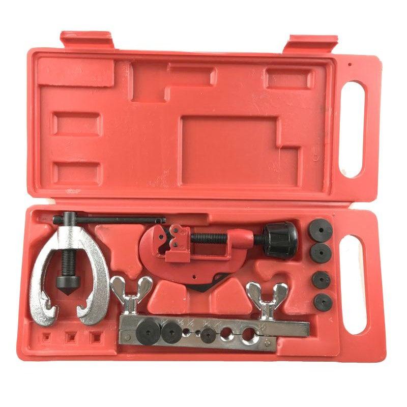 10 Pcs Copper Brake Fuel Pipe Repair Double Flaring Dies Tool Set Clamp Kit Tube Cutter