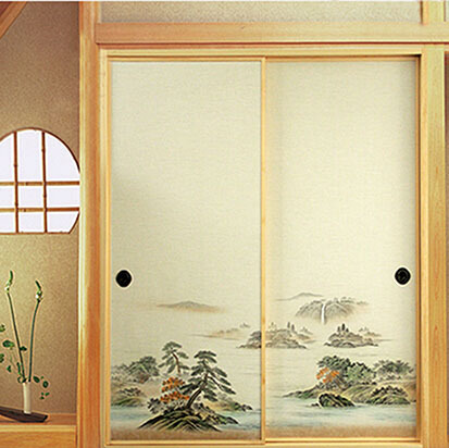 Japanese Fusuma Door Paper 2 Sheets/Pair Washi Woodblock Decor Decorative Wall Paper Soji Sliding & Japanese Fusuma Door Paper 2 Sheets/Pair Washi Woodblock Decor ...
